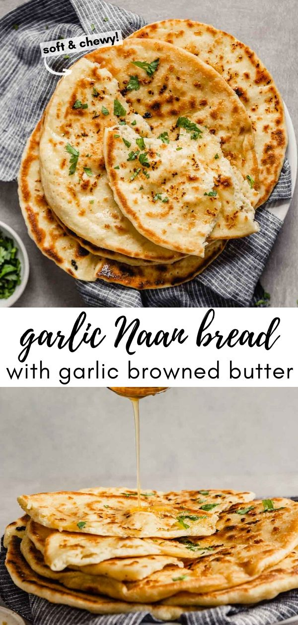 Garlic Naan With Garlic Browned Butter Recipe In 2020 Recipes Garlic Naan Food Processor Recipes