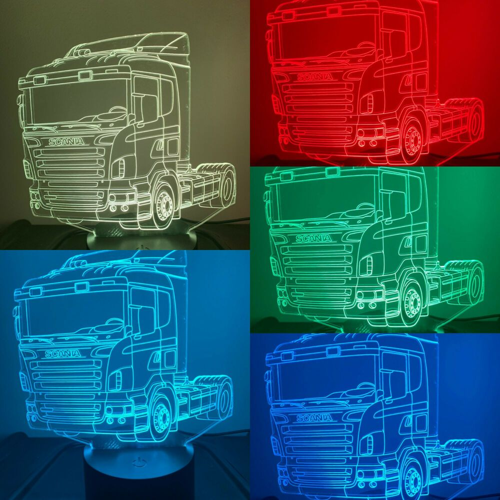 Details About Scania 3 Truck 3d Led Lamp Can Be Personalized Colors Changing Remote Control 3d Illusions 3d Led Lamp 3d Led Light