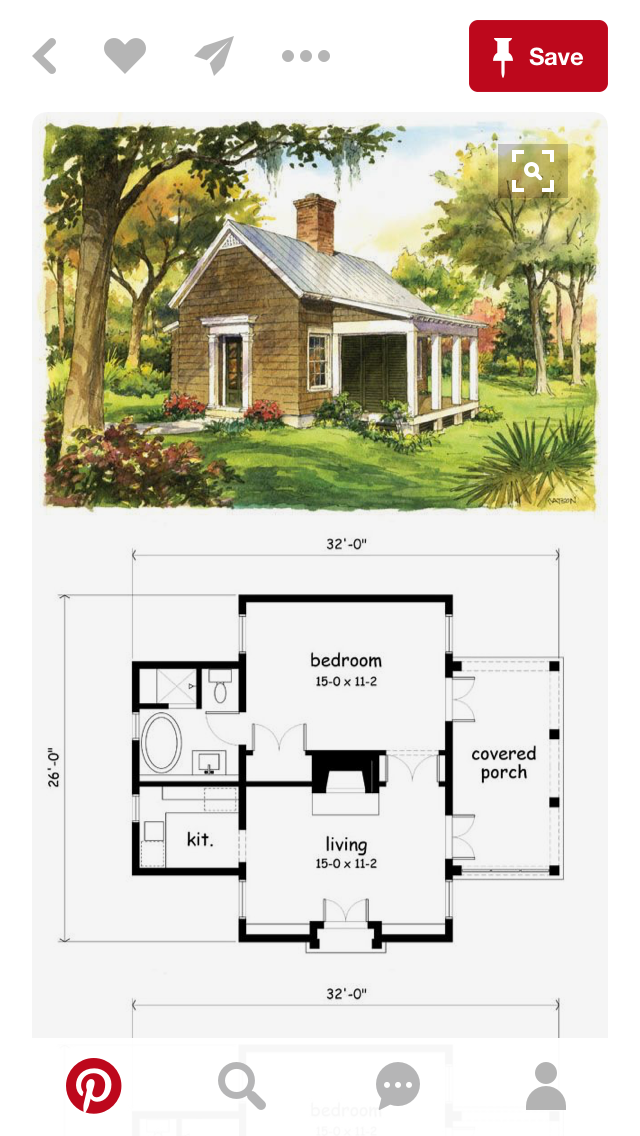 Pin By Kristi Westlake On Housers Cottage Plan Small House Tiny House Plans