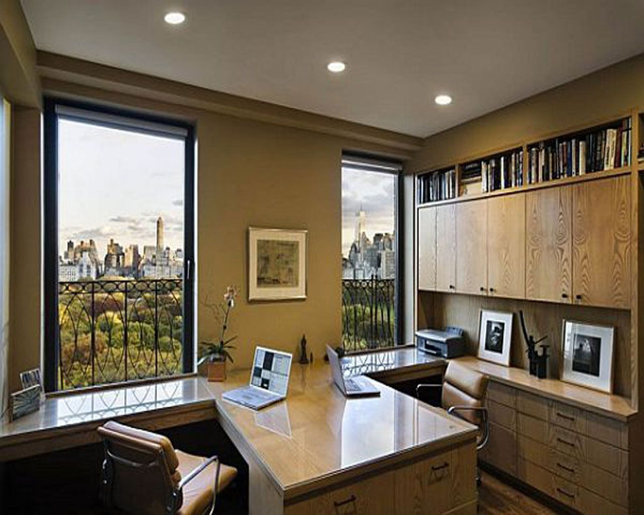 open space home office. Home Office | Wrap Around Desk Placement Is Nice Open Space I