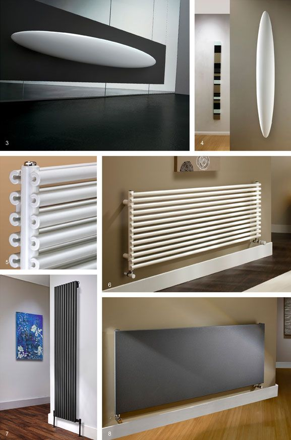 Strikingly modern designer radiators