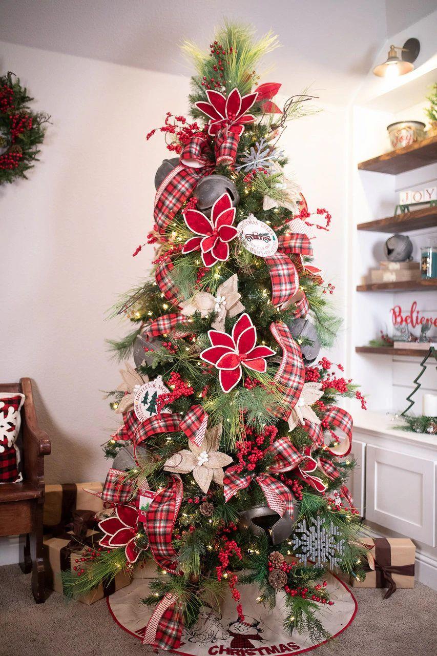 Pre Bundled Farmhouse Christmas Tree Theme Decorator S Warehouse In 2020 Christmas Tree Inspiration Christmas Tree Themes Farmhouse Christmas Tree