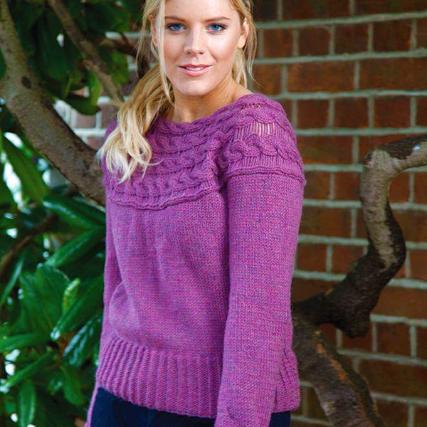Freeknittingpattern Womenssweatersmalinaransweater