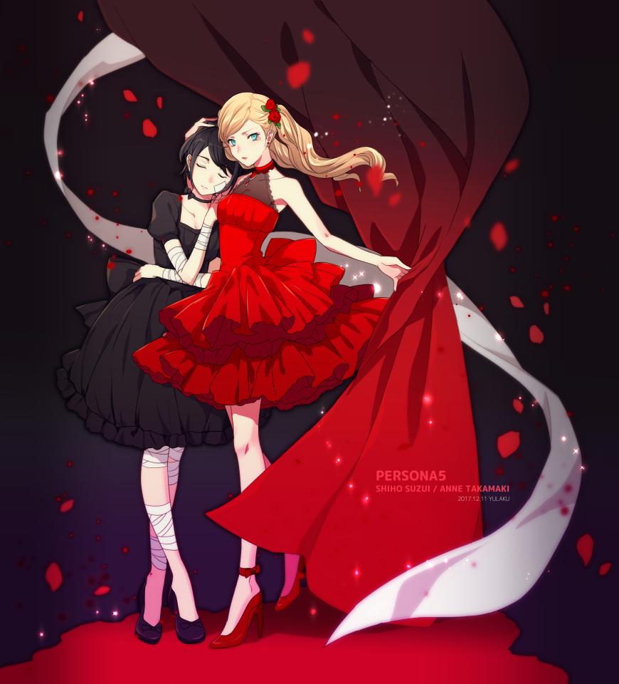 Ann And Shiho Persona 5 Ann Persona Persona 5 Anime