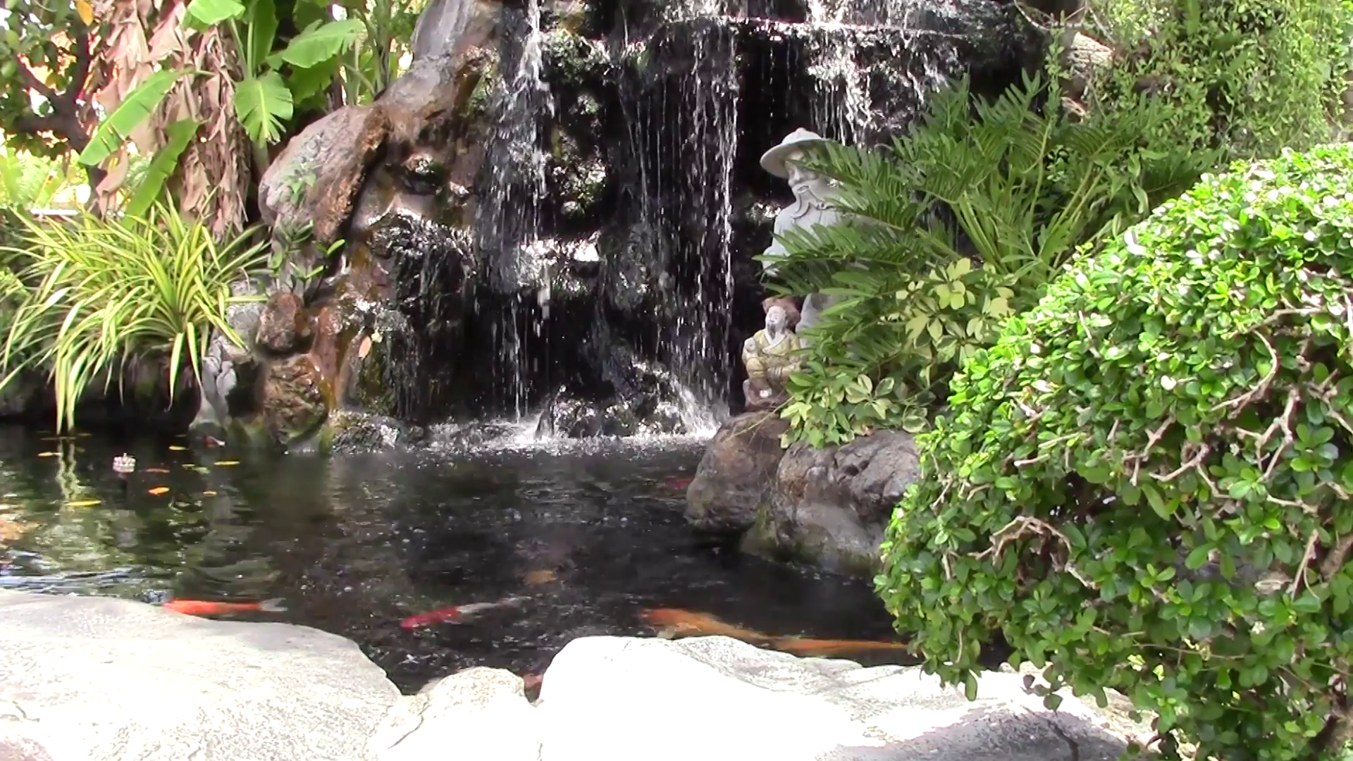 Colorful Video With Asian Garden Waterfall And Pond With Asian Garden Garden Waterfall Waterfall