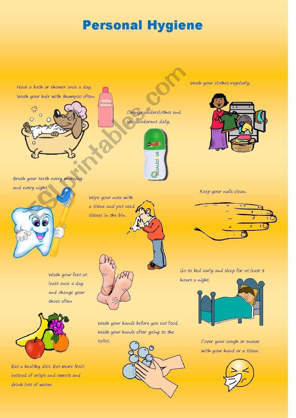5 Memorable Personal Hygiene Worksheets In