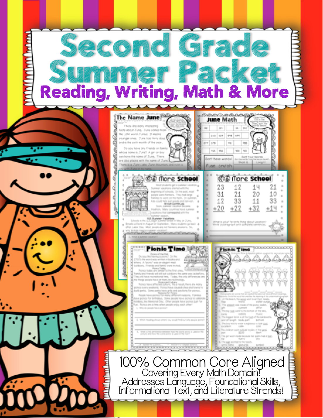 Second Grade Common Core Summer Packet Review Reading