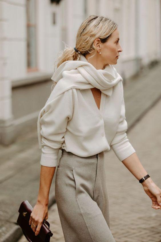 7 оригинальных способов носить свитер, как это делают топовые модницы