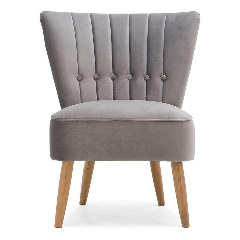 Isla Velvet Chair - Light Grey