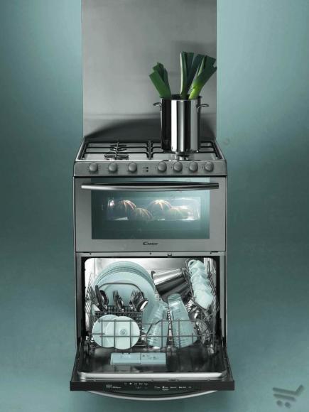 Candy Trio Cocina, extractor, lavavajillas y horno (con