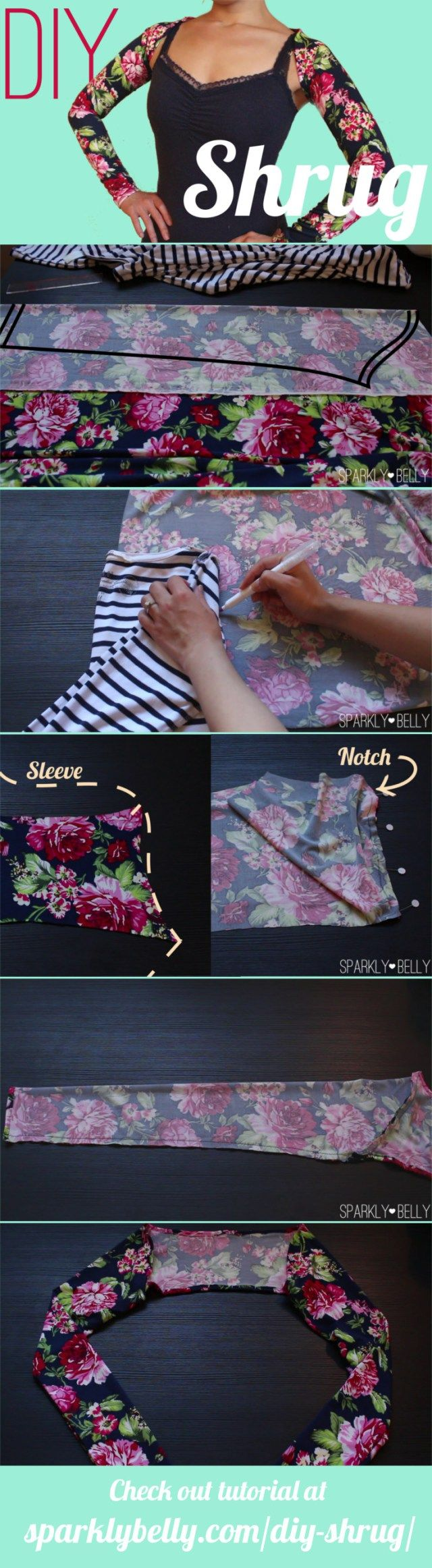 DIY Shrug for Dancers (No Special Pattern Required | Nähen, Diy ...