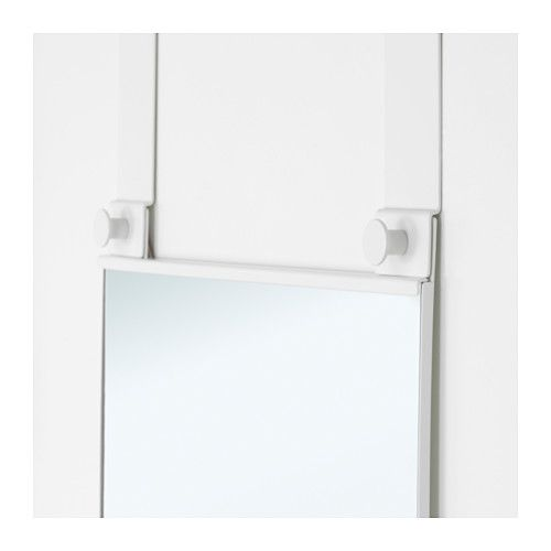 IKEA GARNES Over-the-door mirror White cm Out of wall space? Don\u0027t worry this mirror hangs on your door.  sc 1 st  Pinterest & GARNES Over-the-door mirror door hanging white | Doors Wall ...
