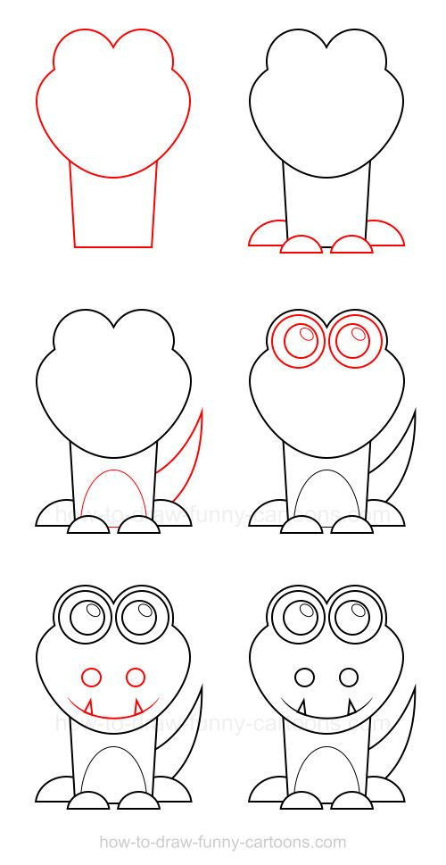 This docile and friendly character can be drawn through this tutorial on how to draw a crocodile!