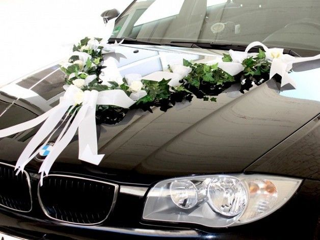 Moderne Deko fr den Hochzeitskonvoi  Hochzeitsauto