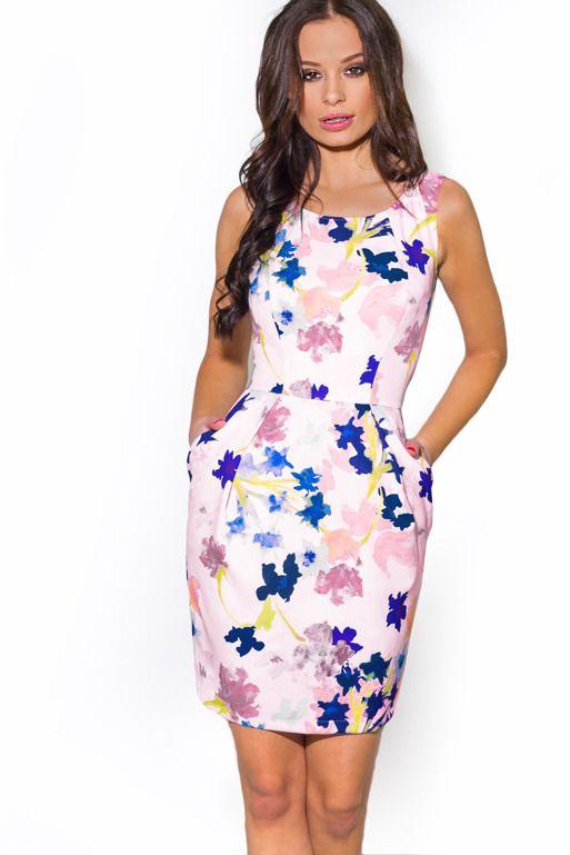 Sukienka Bombka We Wzor Akwarelowych Kwiatow Fashion Dresses Graduation Dress