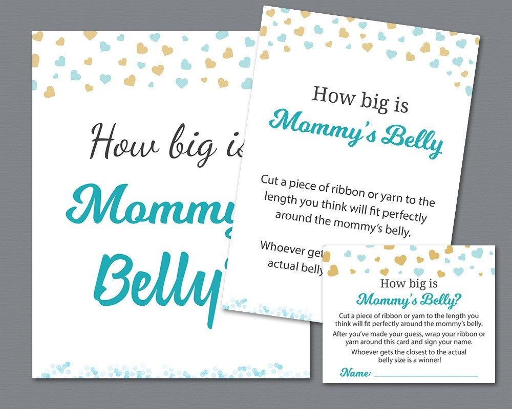 How Big Is Mommys Belly Printable Boy Baby Shower Games Shower