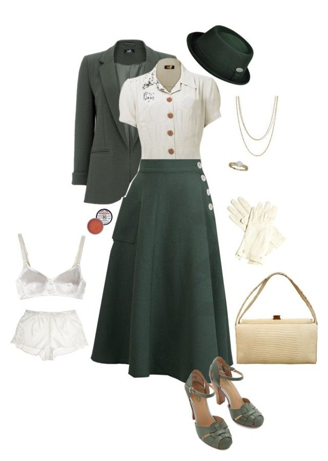 The Real And The Inspired By 1940s Fashion: 1940s Fashion, Fashion, Polyvore Fashion
