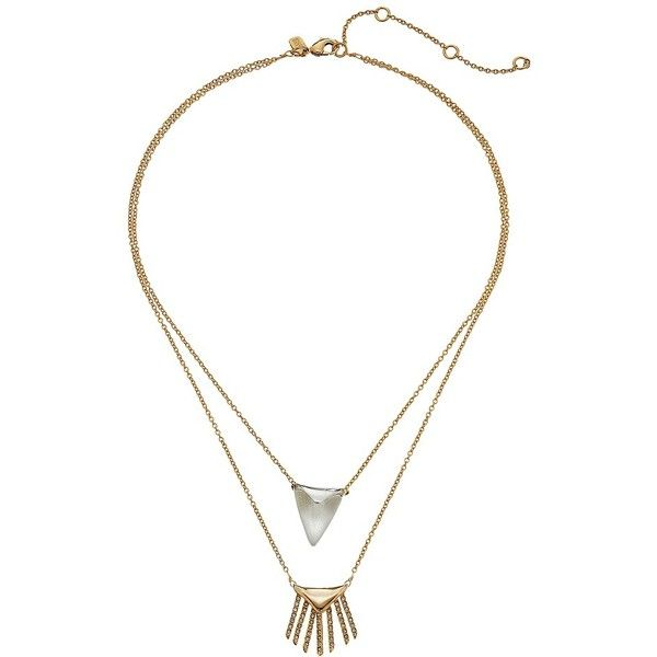 Alexis Bittar Chain Fringe Pendant Necklace UAarMW