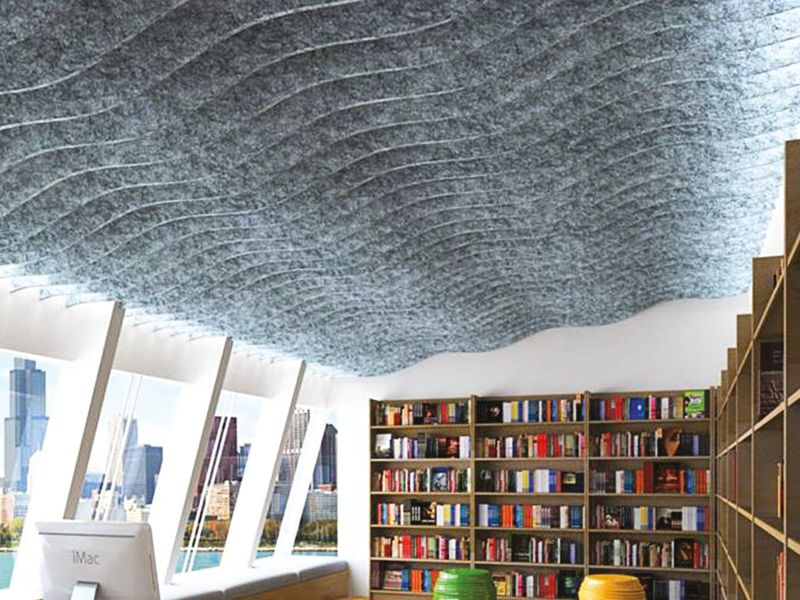 Acoustic Baffles For Ceilings And Walls Echopanel Systems Acoustic Baffles Acoustic Solutions Sound Dampening
