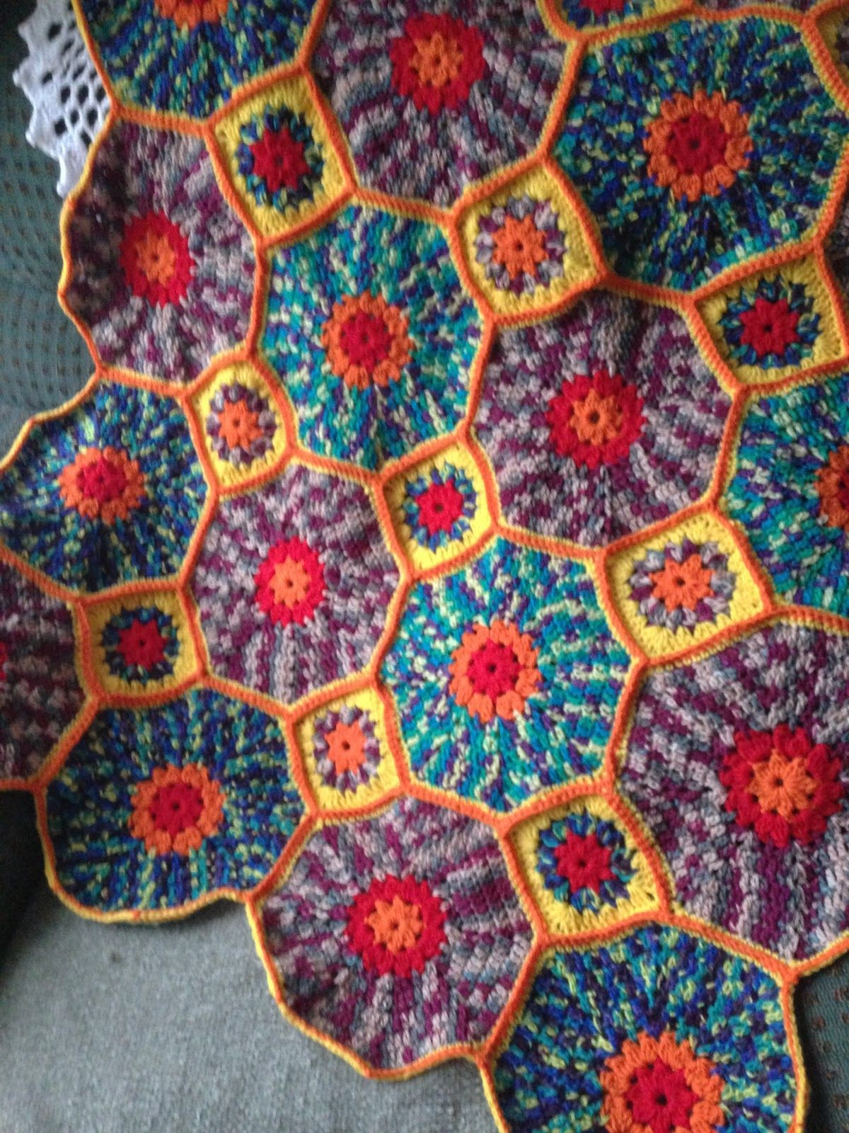 MonikaRose Crochets: Octagon and Square Afghan Completed | Crochet ...
