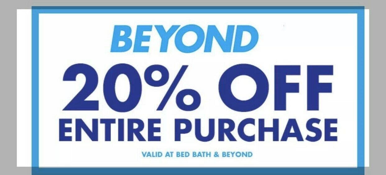 Bed Bath Beyond 20 Off Entire Purchase Coupon Discount Code