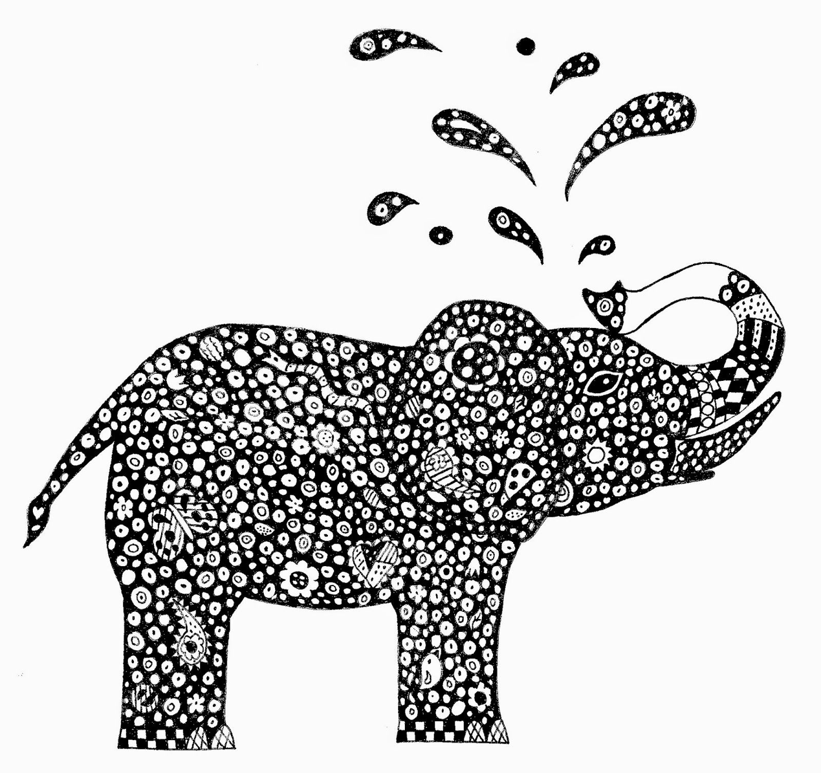 Images For > Zentangle Animal Coloring Pages Sharpie Fun