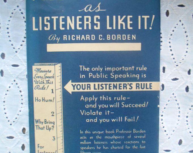 Public speaking as listeners like it by richard c borden harper books fandeluxe Image collections