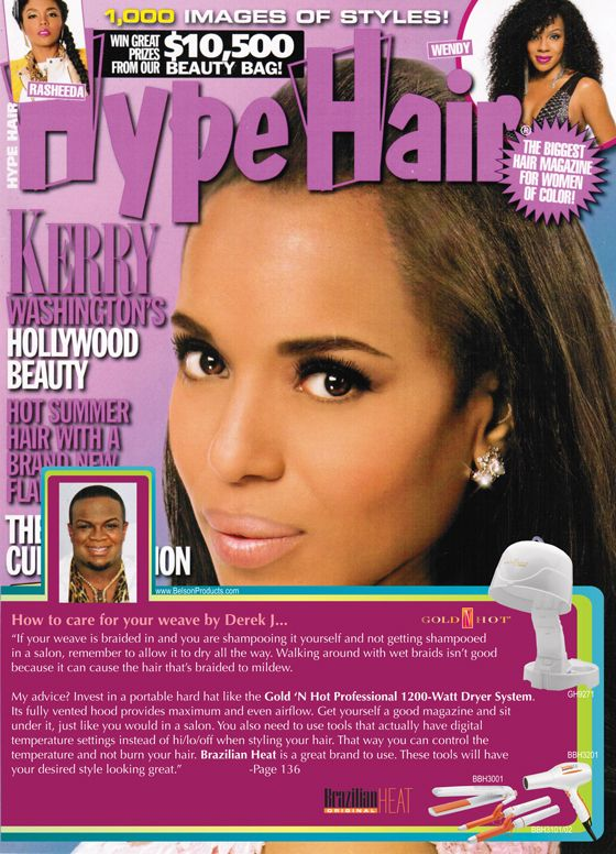 Celebrity Stylist Derek J Gives Great Tips On Keeping Your Weave Healthy And Looking Fabulous With Gold N Hot And Heat Styling Products Beauty Bag Hot Summer