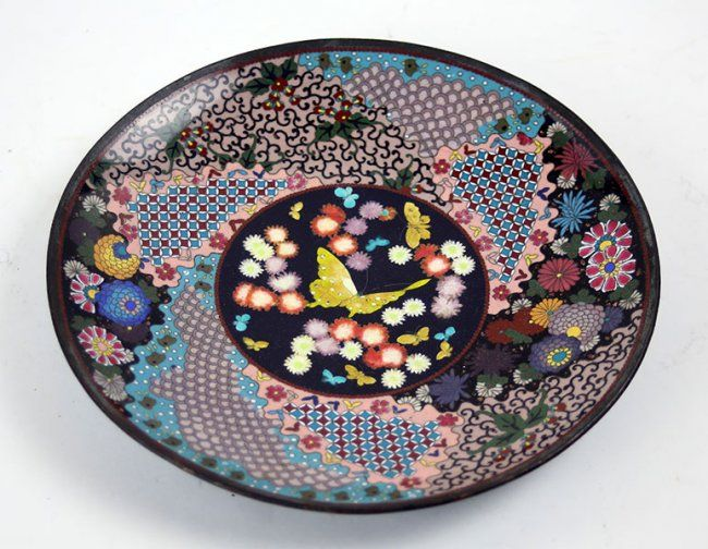 A Japanese Cloisonne Metal Charger. Lot 152-3021