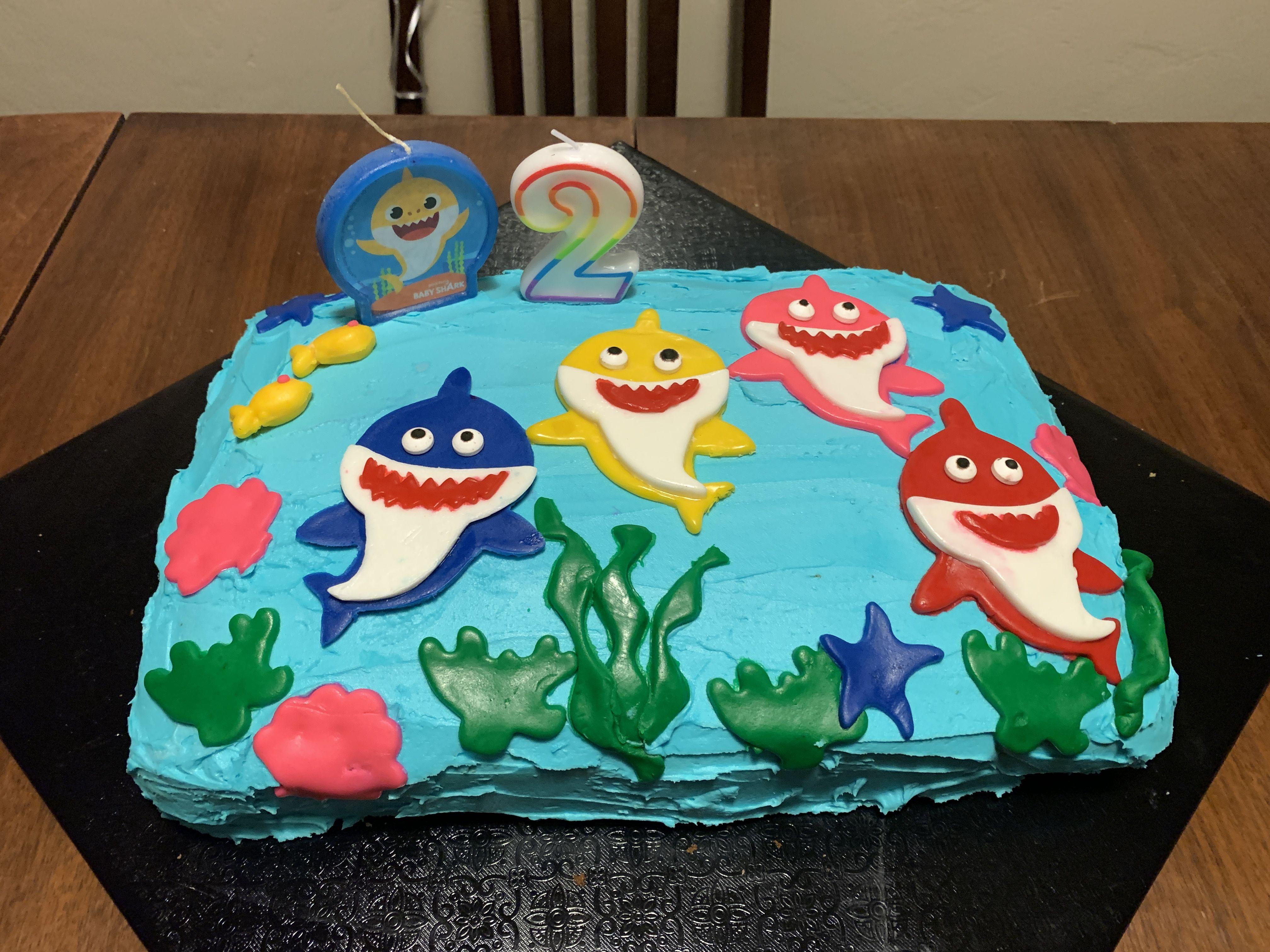 Baby shark cake shark cake baby shark birthday sheet cakes