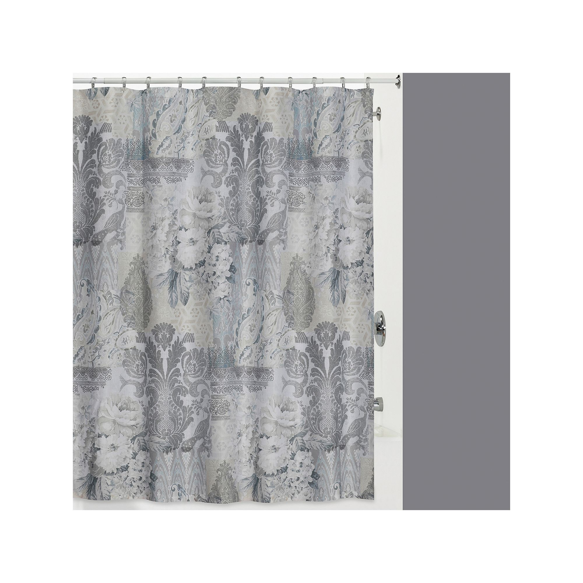 Creative Bath Heirloom Shower Curtain Grey Creative Bath