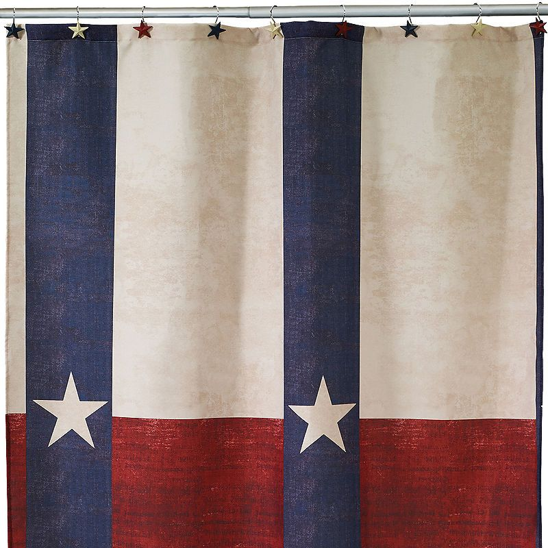 Avanti Texas Star Shower Curtain Star Shower Texas Star