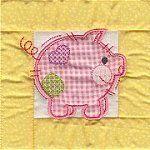 Baby Quilt Applique 6x10
