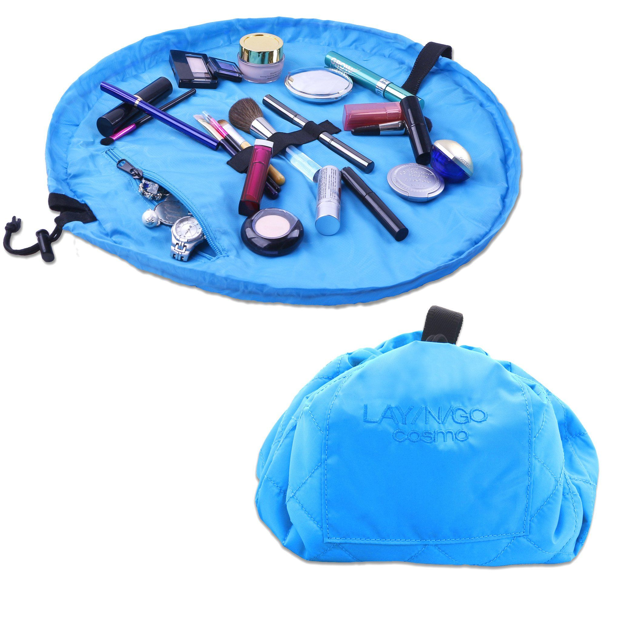 """LaynGo COSMO (20"""") Blue Makeup bags travel, Cosmetic"""