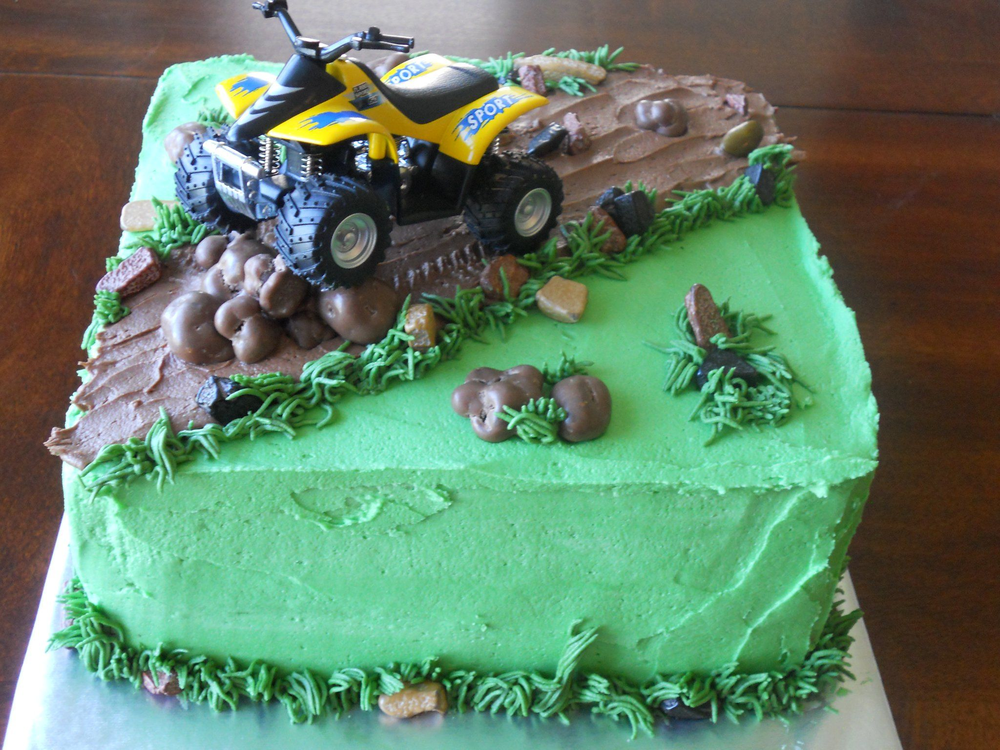 Quad Cake Dirt Bike Cakes Recipes Baking Candy Decorations 15th