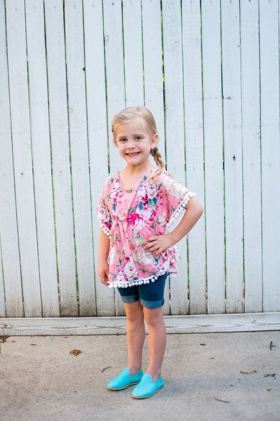 DAHLIA BLOOM KAFTAN Beach Cover Ups for Girls by MissLylaBoutique