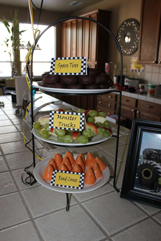 Monster Truck Birthday Party Ideas Photo 4 Of 37 Catch