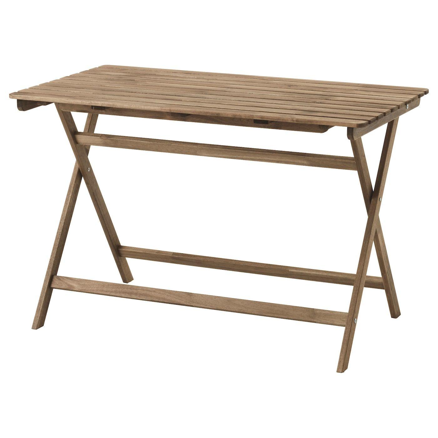 Askholmen Tisch Aussen Faltbar Hellbraun Graubraun Lasiert