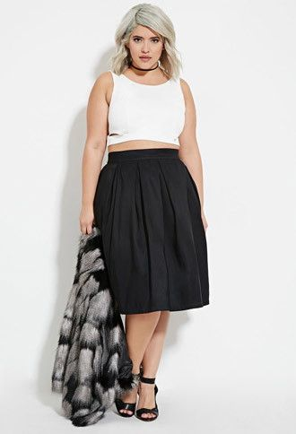 Plus Size Pleated A-Line Skirt | Forever 21 PLUS ...