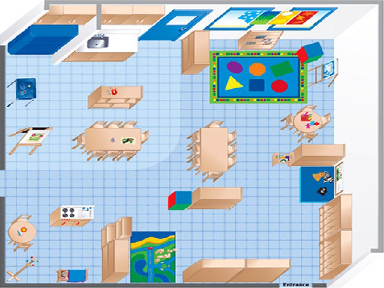 Room Diagram Maker Ecers Preschool Classroom Floor Plan Preschool Preschool Pinterest