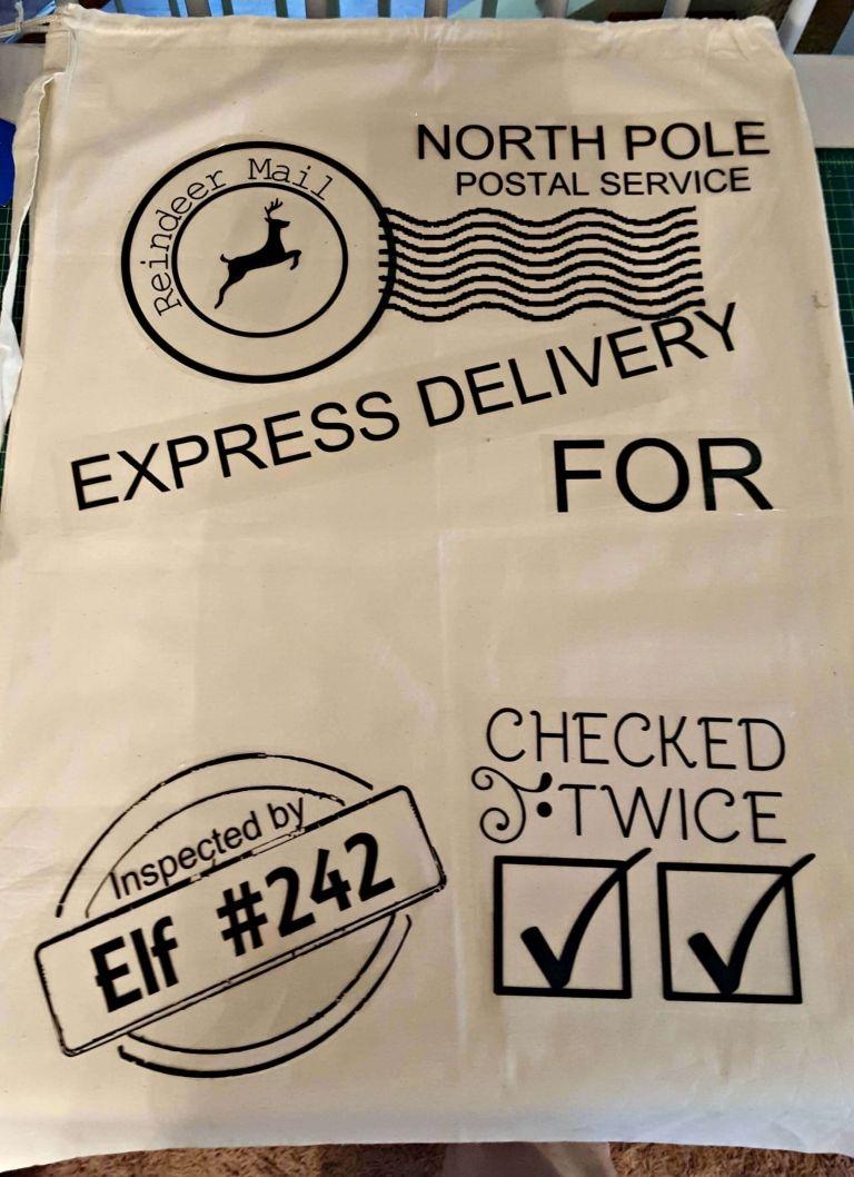 Free Santa Sack SVG Cut Files Cricut Santa sack