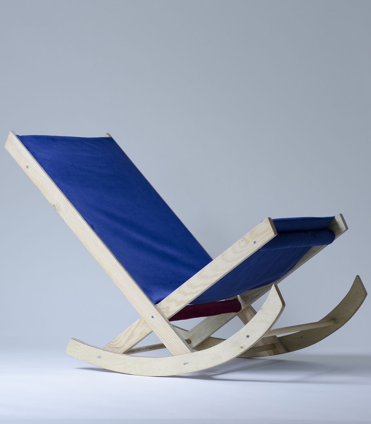 Plywood rocking armchair on Behance
