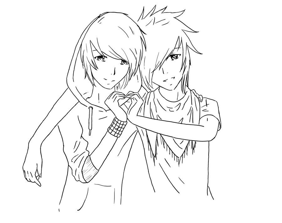 Heart by tNienjaa on deviantart.com. Anime/Manga Couple Coloring ...