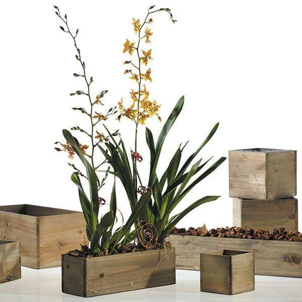 Rectangular Wooden Planter Box Planter Boxes Wood 400 x 300