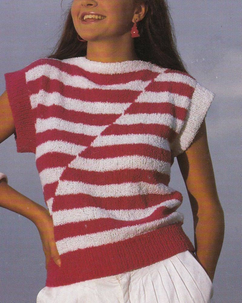 Vintage Knitting Pattern Instructions for a Ladies Women s Summer Jumper Top
