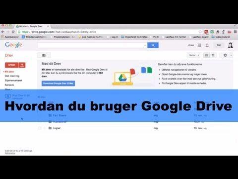 Hvordan du bruger Google drev