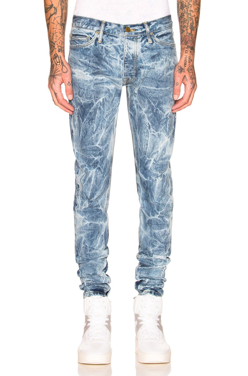 Fear of God FOG Selvedge Denim Holy Water Jeans White Size ...