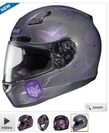 0281658c HJC womens CL-17 mystic helmet. From revzilla ,Not crazy about the color.  Good price for a snell , will probably fit me since my helmet now is is an  HJC ...