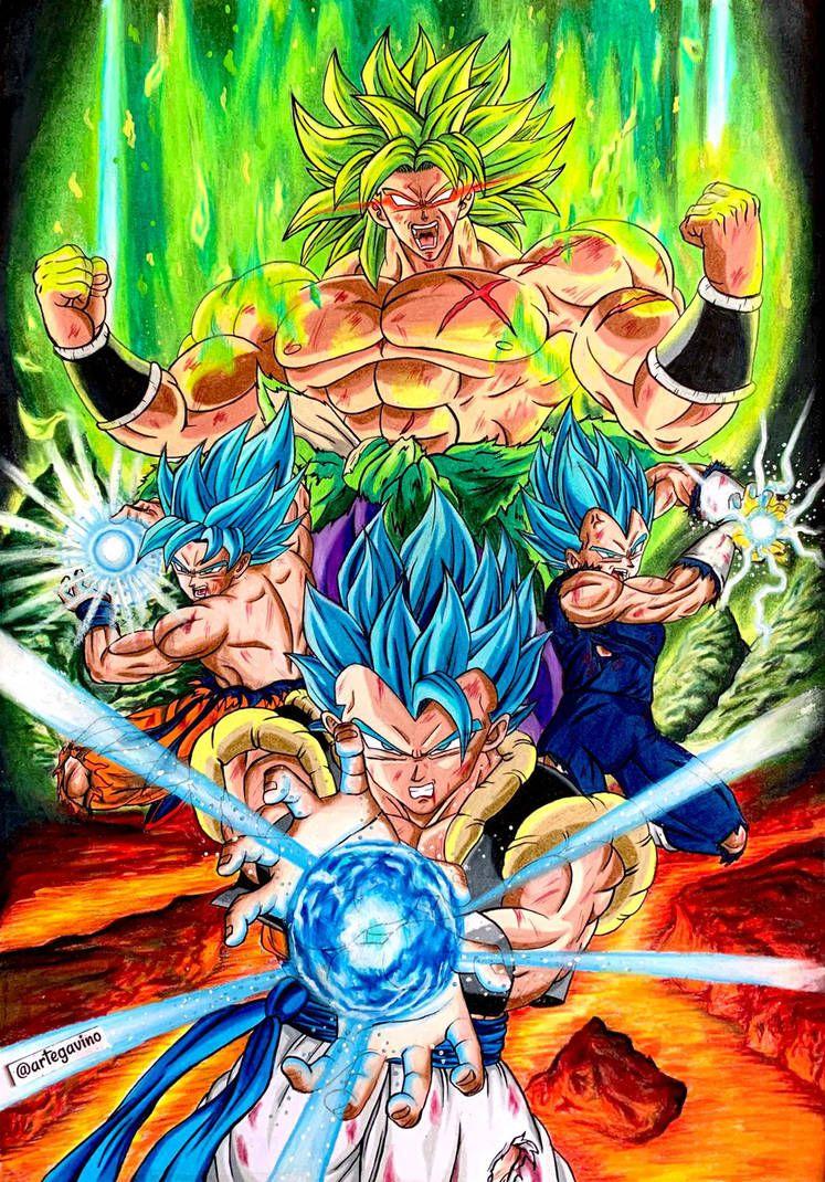 Goku Vegeta Gogeta vs Broly by Artegavino on DeviantArt