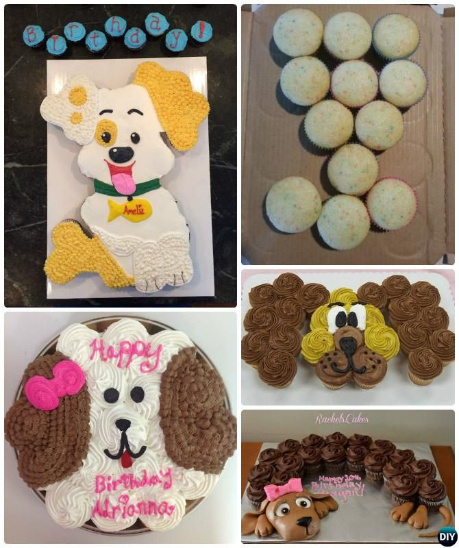 DIY Pull Apart Puppy Cupcake Cake 20 Gorgeous Designs For Any